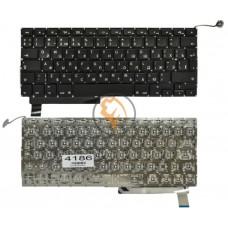 Клавиатура для ноутбука Apple MacBook Pro A1286 вертикальный enter, без подсветки, черная RU