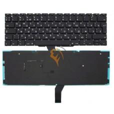 Клавиатура для ноутбука Apple MacBook Air 11 A1370 A1465 вертикальный enter, с подсветкой, черная RU