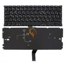 Клавиатура для ноутбука Apple MacBook Air 13 A1369 A1466 вертикальный enter, с подсветкой, черная RU