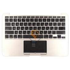 Клавиатура для ноутбука Apple MacBook Air 11 A1370 A1465 горизонтальный enter, с топ-панелью, черная RU