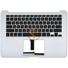 Клавиатура для ноутбука Apple MacBook Air 13 A1369 A1466 горизонтальный enter, с топ панелью, черная RU