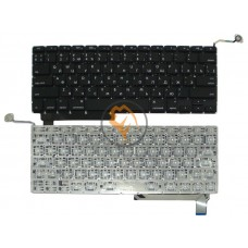 Клавиатура для ноутбука Apple MacBook Pro A1286 горизонтальный enter, без подсветки, черная RU