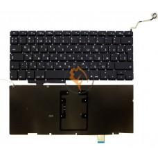 Клавиатура для ноутбука Apple MacBook Pro A1297 вертикальный enter, с подсветкой, черная RU