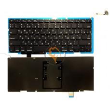 Клавиатура для ноутбука Apple MacBook Pro A1297 горизонтальный enter, с подсветкой, черная RU
