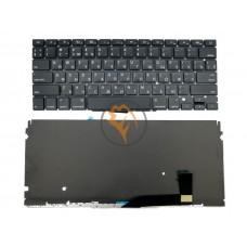 Клавиатура для ноутбука Apple MacBook Pro A1398 горизонтальный enter, с подсветкой, черная RU