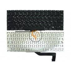 Клавиатура для ноутбука Apple MacBook Pro A1398 горизонтальный enter, без подсветки, черная RU