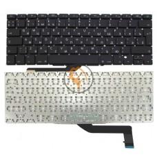 Клавиатура для ноутбука Apple MacBook Pro A1398 вертикальный enter, без подсветки, черная RU