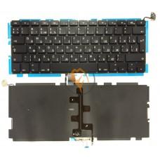 Клавиатура для ноутбука Apple MacBook Pro A1278 вертикальный enter, с подсветкой, черная RU
