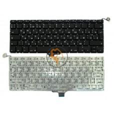 Клавиатура для ноутбука Apple MacBook Pro A1278 вертикальный enter, без подсветки, черная RU