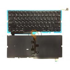 Клавиатура для ноутбука Apple MacBook Pro A1286 15.4 горизонтальный enter, с подсветкой, черная RU