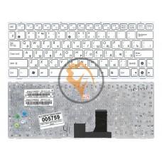 Клавиатура для ноутбука Asus EEE PC 1005HA 1008HA белая рамка, белая RU
