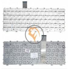 Клавиатура для ноутбука Asus EEE PC 1015 без рамки, белая RU
