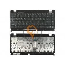 Клавиатура для ноутбука Asus EEE PC 1215 черная рамка, черная RU
