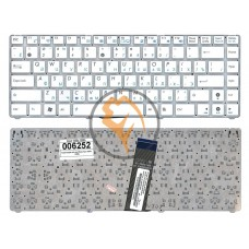 Клавиатура для ноутбука Asus EEE PC 1225C 1225B без рамки, белая RU