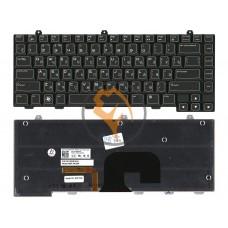 Клавиатура для ноутбука Dell Alienware M14X с подсветкой, черная RU