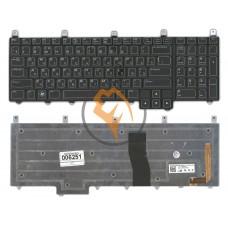 Клавиатура для ноутбука Dell Alienware M17X с подсветкой, черная RU