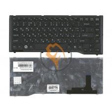 Клавиатура для ноутбука Fujitsu LifeBook LH532 черная рамка, черная RU