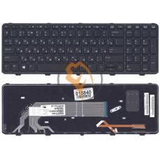 Клавиатура для ноутбука HP 450 G2 с подсветкой, черная рамка, черная RU