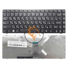 Клавиатура для ноутбука Lenovo IdeaPad B470 V470 черная рамка, черная RU