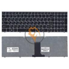 Клавиатура для ноутбука Lenovo IdeaPad B5400 M5400 серебристая рамка, черная RU