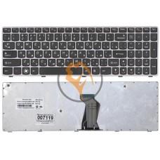 Клавиатура для ноутбука Lenovo IdeaPad B570 серая рамка, черная RU