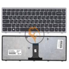 Клавиатура для ноутбука Lenovo IdeaPad FLex 14 серая рамка, черная RU