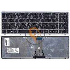 Клавиатура для ноутбука Lenovo IdeaPad FLex 15 серая рамка, черная RU