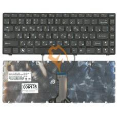 Клавиатура для ноутбука Lenovo IdeaPad G470 черная рамка, черная RU