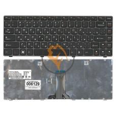 Клавиатура для ноутбука Lenovo IdeaPad G480 черная рамка, черная RU