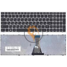 Клавиатура для ноутбука Lenovo IdeaPad G50-70 G50-30 серая рамка, черная RU