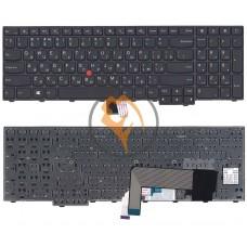 Клавиатура для ноутбука Lenovo Ideapad Edge E545 с подсветкой, черная рамка, черная RU