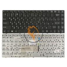 Клавиатура для ноутбука MSI CX480 черная рамка, черная RU