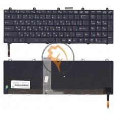 Клавиатура для ноутбука MSI GE60 с подсветкой, черная рамка, черная RU