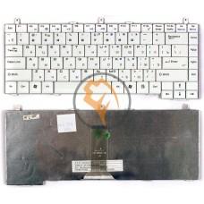 Клавиатура для ноутбука MSI S420 белая RU