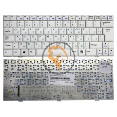 Клавиатура для ноутбука MSI Wind U100 белая RU