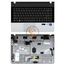 Клавиатура для ноутбука Samsung 300E4A черная с топ панелью, RU