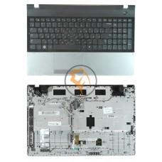 Клавиатура для ноутбука Samsung 300E5A черная с топ панелью, черная RU