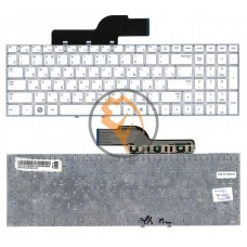 Клавиатура для ноутбука Samsung 300E5A 300V5A 305V5A 305E5 без рамки, белая RU