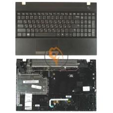 Клавиатура для ноутбука Samsung 300V5A черная с топ панелью, черная RU
