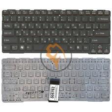 Клавиатура для ноутбука Sony SVE14A без рамки, черная RU