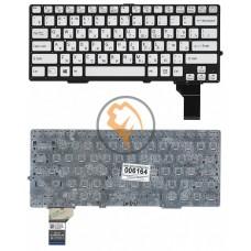 Клавиатура для ноутбука Sony SVS13 с подсветкой, без рамки, серебристая RU