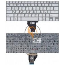 Клавиатура для ноутбука Sony Vaio FIT 14E без рамки, серебристая RU