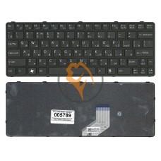 Клавиатура для ноутбука Sony Vaio SVE11 черная рамка, черная RU