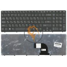 Клавиатура для ноутбука Sony Vaio SVE15 SVE1511V1R черная рамка, черная RU