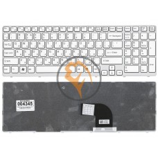Клавиатура для ноутбука Sony Vaio SVE15 SVE1511V1R белая рамка, белая RU