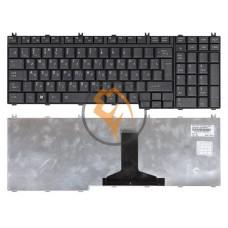 Клавиатура для ноутбука Toshiba Satellite A500 вертикальный enter, черная Mat RU