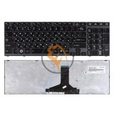 Клавиатура для ноутбука Toshiba Satellite A660 A665 черная рамка, черная RU