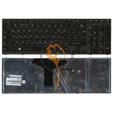 Клавиатура для ноутбука Toshiba Satellite A660 A665 с подсветкой, черная рамка, вертикальный enter, черная RU