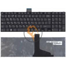 Клавиатура для ноутбука Toshiba Satellite C55 C55-A C55DT черная рамка, вертикальный enter, черная RU