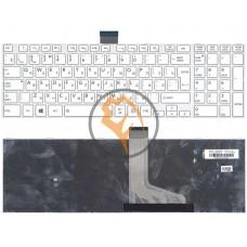 Клавиатура для ноутбука Toshiba Satellite C55 C55-A C55DT белая рамка, вертикальный enter, белая RU